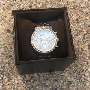 Michael Kors Accessories - Michael Kors Tri-Tone Ritz Watch